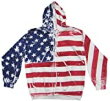 Men's American Flag Zip Up Hoodie