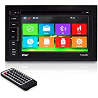 Pyle Headunit Stereo Receiver | 6.5 -inch Video Touchscreen Display | Bluetooth Wireless Streaming | CD/DVD Player | AM/FM Radio | Double DIN (PLDNV66B)
