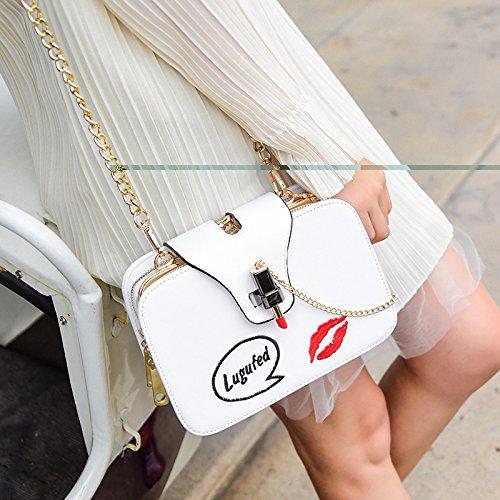 Bag Elégant Paquet Square WenL Totes Messenger Main White Baguettes Chain Sacs Pochette à Petit Nouveaux qqpXUwPS8