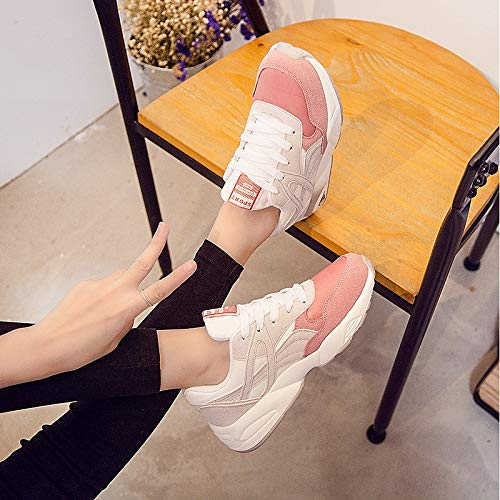 Flat PU Heel Sneakers Poliuretano Mujer Zapatos Summer Gray Comfort de Pink Grey ZHZNVX Green 6Fxw4Rg