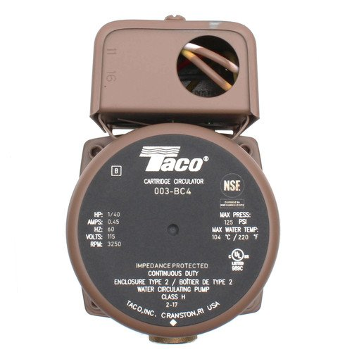 003-BC4 Bronze Circulator (1/2'' Sweat) 1/40 HP by Taco