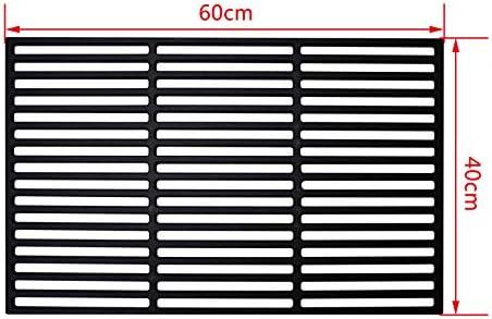 Grillplatten f/ür Gasgrill und Holzkohlegrill LARS360 Rechteck Gusseisen Grillrost Grillgitter Gussrost Roste Gr/ö/ßen 34 x 54 cm Massiv und Emailliert