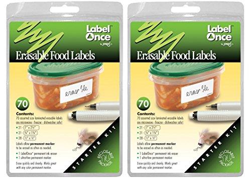 Jokari 2 Count Label Once Erasable Food Labels - Jokari Erasable Food Labels