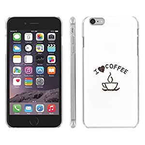 DaojieTM Generic Iphone 6 4.7 Inch I Love Coffee Snap on Slim Case