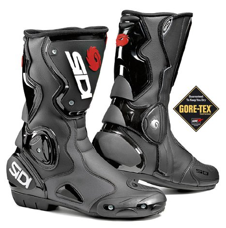 Motorcycle Tex Waterproof Size Goretex Boots Black Lining Gore Sidi B2 46 Ad4gqwq