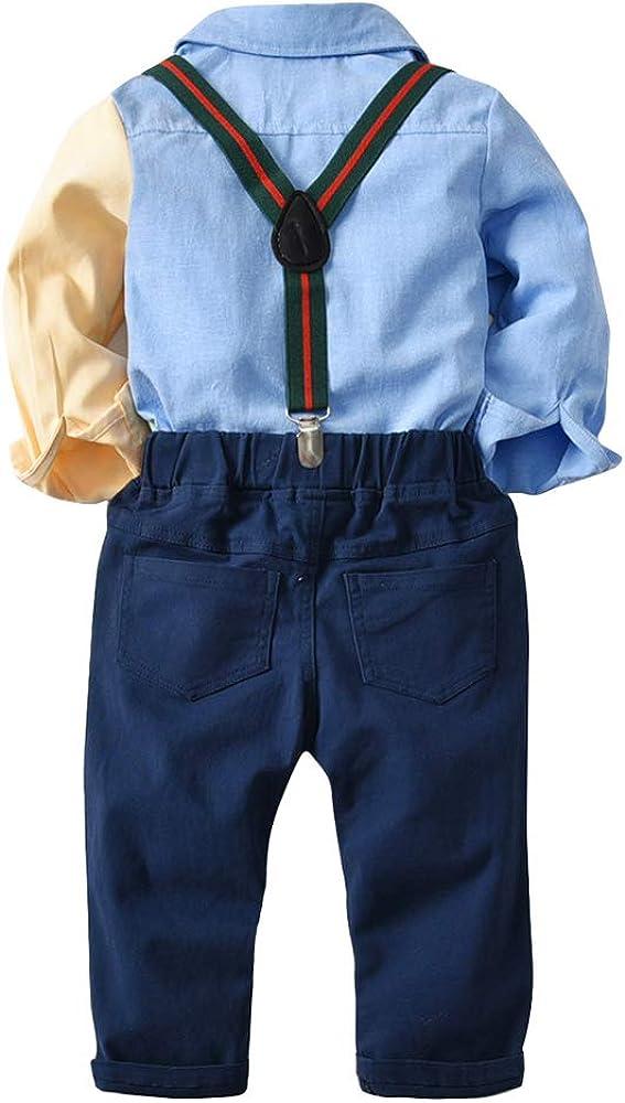 Conjunto de Niños Camisa de Manga Larga + Pantalones + Corbata de ...