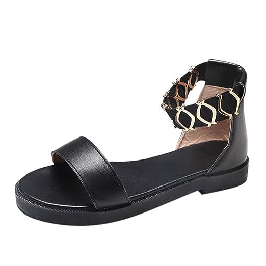 9369e49ee9693 Amazon.com: Nevera Women's Flatform Ankle Strap Buckle Open Toe Faux ...