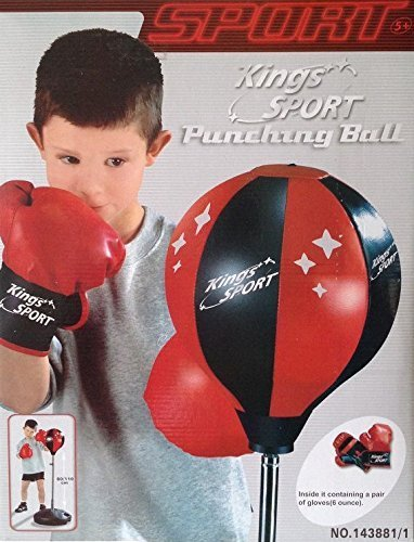 Kings Sport Boxing Punching Bag with Gloves Punch Boxing Set/ Ball Set for Kids 43'