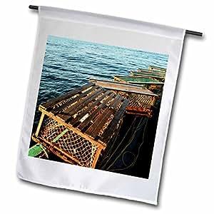 Danita Delimont - Fishing - Nova Scotia, Cape Breton, Lobster Traps, Fishing-CN07 PWA0122 - Patrick J. Wall - 12 x 18 inch Garden Flag (fl_72046_1)
