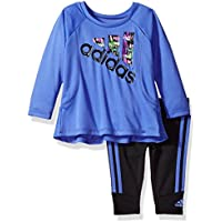 Adidas Baby Girls' Long Sleeve Top and Legging Set