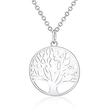 a2aa49509 Amazon.com: Hot Sale Silver For Women Tree Of Life Pendant Necklace Jewelry  Silver Jewelry Fashion Cute Wedding Party Lover Cute Gift: Beauty