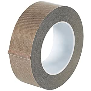 """Teflon T966213 PTFE Glass Cloth Backing Adhesive Tape, 18 yds Length x 1-1/2"""" Width, 5 mil Thick, Brown"""