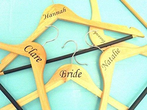 Wedding Bridal Party Vinyl Coat Hanger Decal Sticker NAME OR ROLE - Diy vinyl wedding hangers