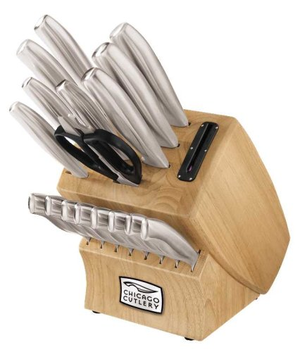 Chicago Cutlery 18-Piece Insignia Steel Knife Set with Block and In-Block Sharpener by Chicago Cutlery (Image #4)'