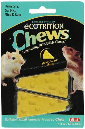 51uinLVT5QL 8 In 1 Pet Products SEOP84002 Ecotrition Small Animal Cheesie Chews, 1-Ounce