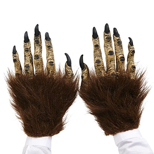 Brown Beast Adult Latex Hands (Werewolf Outfits Halloween)