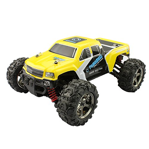 RC Car, FSTgo BG1510C Yellow Off Road High Speed Car Crawlers 40km/h 4×4 Fast Race Cars1:24 Scale 50M Remote Control 40mins Playing Times 4WD 2.4GHz Electric Hobby Car Truck w/Rechargeable Battery