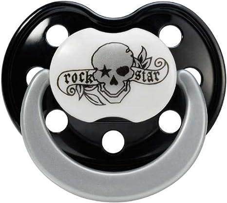 Chupete Bebe Rock Star Pirata Silicona Libre de BPA