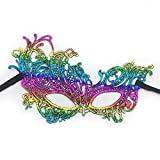 Face mask Shield Veil Guard Screen Domino False Front Halloween Feminine Colored Lace Bronzing Fun mask Dance Makeup Princess Party Half face Goggles 2