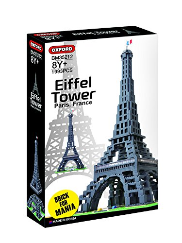OXFORD EIFFEL TOWER OXF35212 BUILDING BLOCK KIT WITH 1,993 ()