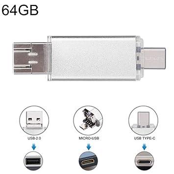 LYA Unidad Flash USB, 64 GB de Metal Resistente al Agua ...