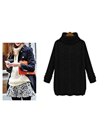 Bopstyle Women's Cable Knit Long Sleeve Loose Pullover Sweater