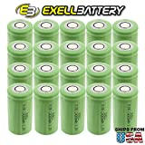 20x Exell 1.2V 4000mAh NiMH C Size Rechargeable Flat Top Batteries use with high power static applications (Telecoms UPS and Smart grid) radio controlled devices electric tools electric mopeds