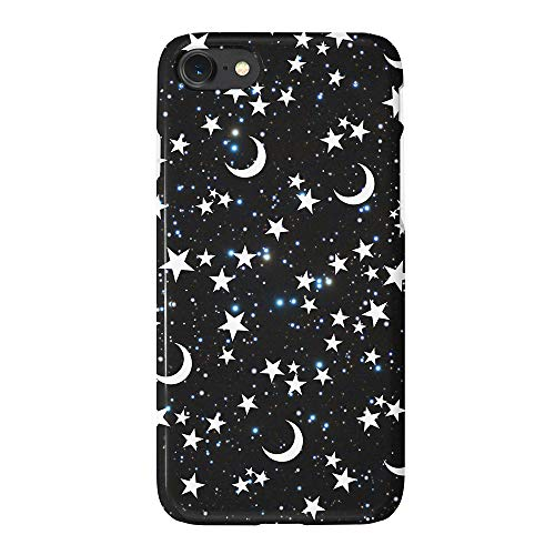 (uCOLOR Matt Case Compatible iPhone 6S 6 iPhone 8/7 Cute Protective Case Star Moon Black Moon Stars Blue Glitter Slim Soft TPU Silicon Shockproof Cover Compatible iPhone)