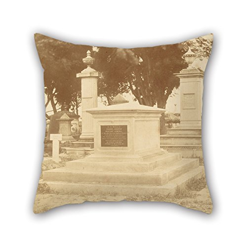 Uloveme Oil Painting Charles Moravia (British - (Tomb Of Colonel Charles Chester, Adjutant General Of The British Army) Pillow Covers ,best For Boys,relatives,him,monther,teens,drawing Room 20 X (Colonel Costume For Kids)