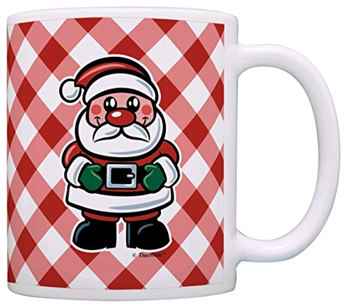 Christmas Coffee Mug Christmas Jolly Santa Claus Christmas Mugs for Women Stocking Stuffers Gift Cof
