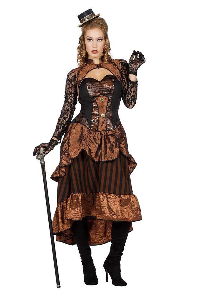 Shoperama Steampunk Victoria Damen Kostüm Kleid Burning Man viktorianisch Industrial, Größe:44