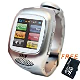 SVP G13 (with micro16GB)Silver Smart Watch Cell Phone ~ unlocked~ Quad-band