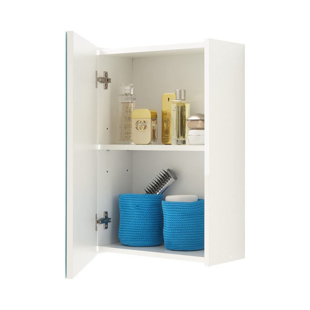 FMD Elda Bathroom Wall Cabinet, 40 x 61.5 x 20.5 cm, White FMD Möbel GmbH 932-001 F00653207015_WHITE