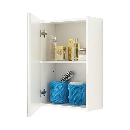 FMD Elda Bathroom Wall Cabinet, 40 x 61.5 x 20.5 cm, White