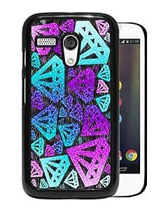 Hot Sale Motorola Moto G Case ,Purple Diamond Black Motorola Moto G Cover Case Unique Popular Designed Phone Case
