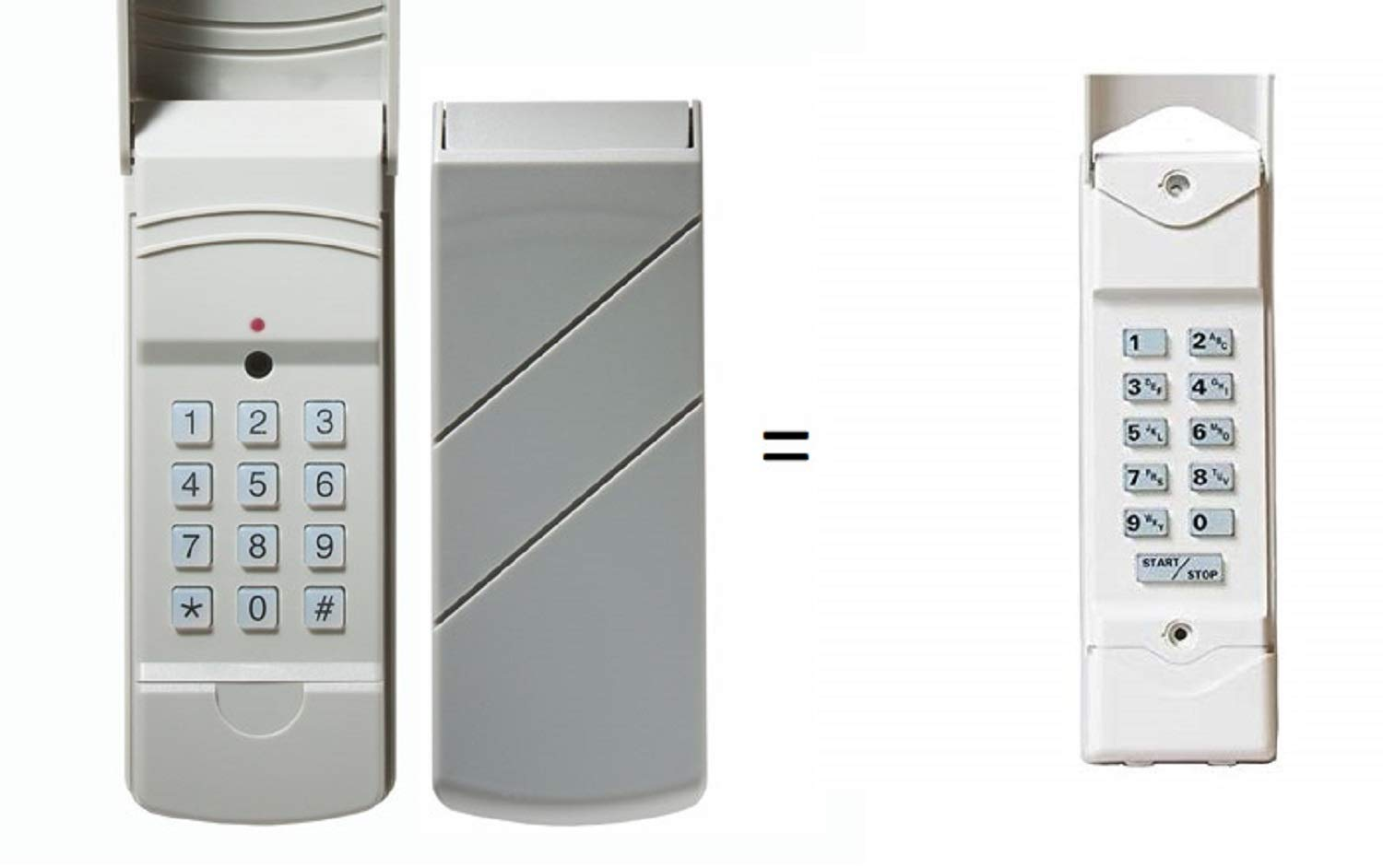 Compatible Keypad for Linear DTKP DNT00062 Compatible 310 MHz Wireless Keyless Entry Keypad