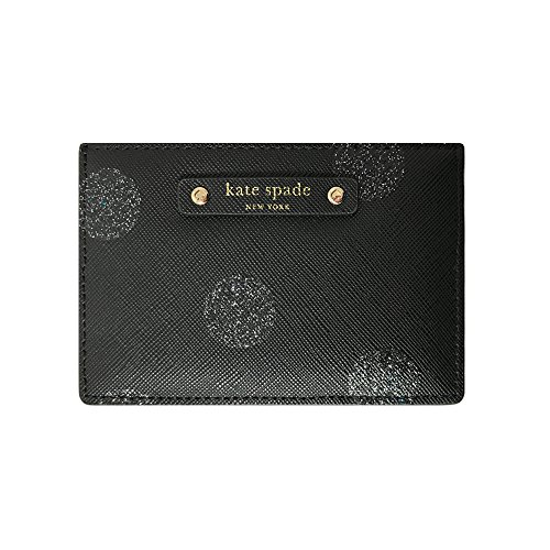 Kate-Spade-Haven-Lane-Graham-Polka-Dot-Card-Case-WLRU2692-Black-Glitter
