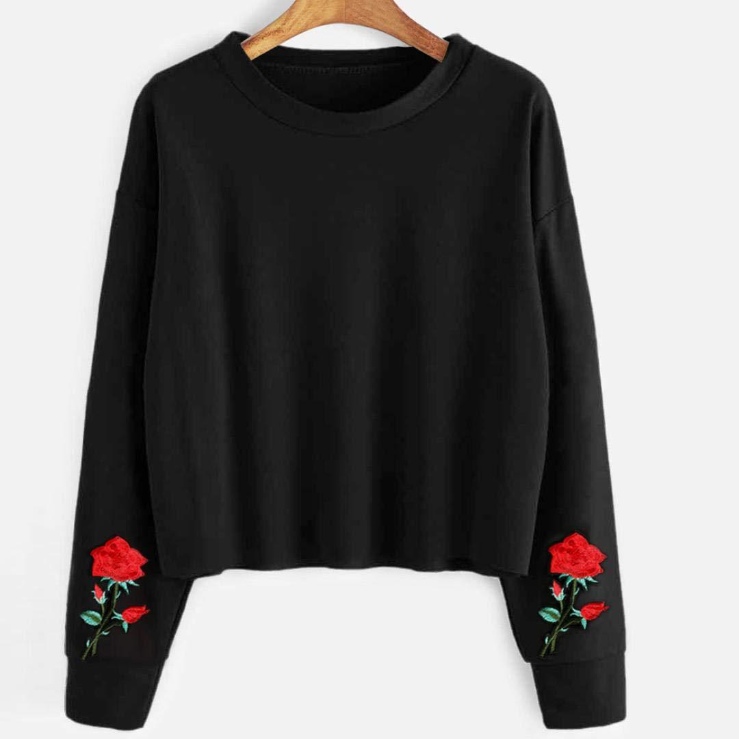 MEIbax Casual Chica señoras Linda Impresa Mujeres Manga Larga Slim Agujero Hueco suéter Corto Camisa Blusa Tops: Amazon.es: Ropa y accesorios