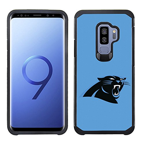 Prime Brands Group Textured Team Color Cell Phone Case for Samsung Galaxy S9 Plus - NFL Licensed Carolina Panthers