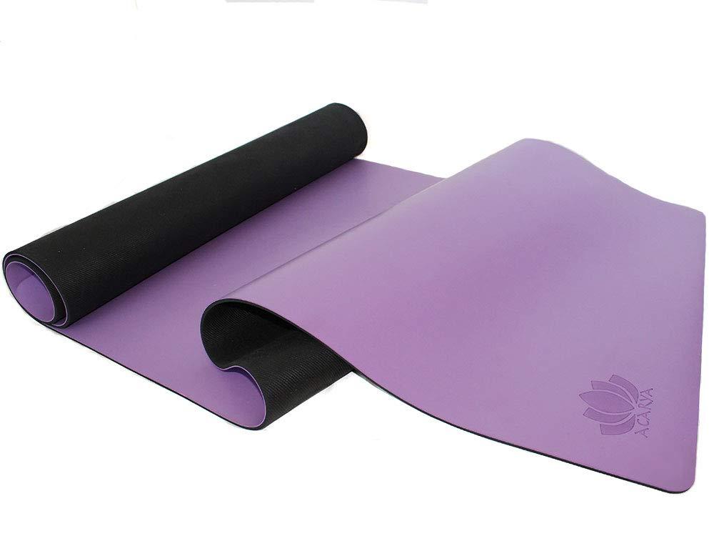 Amazon.com: Acarya - Alfombrilla de yoga de goma natural ...