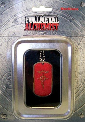 - Fullmetal Alchemist: Edward's Symbol (Flamel) Dog Tag Red Necklace