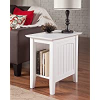 Atlantic Furniture AH13302 Nantucket Side Table Rubberwood, White