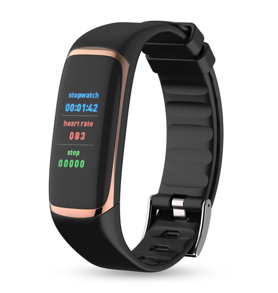 P9 Wristband Watch for Women Men, Unisex Blood Pressure Watch Blood Oxygen Heart Rate Monitor Smart Watch for IOS8.0 + and Android 4.4+ (Gold)