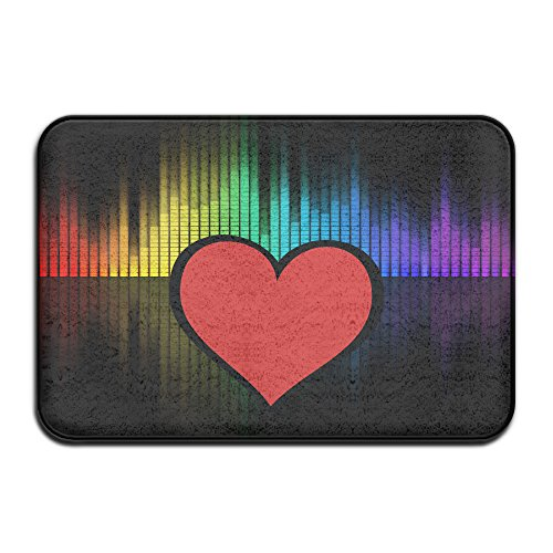 Heart Poem Mat - Red Loving Heart Fashion Floor Mat Rug Coral Velvet And Memory Foam