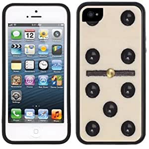 Domino Tile Game Piece Handmade iPhone 5C Black Case by supermalls