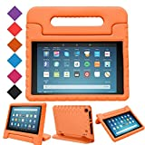 """LTROP All-New Fire HD 8"""" (2017 release) Tablet Case for Kids, Light Weight EVA Shock Proof Handle Kid-Proof Case for Fire 8 inch Display Tablet 7th Generation - Orange"""