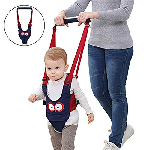 Babywalker Baby Toddler Walking Assistant Protective Belt Carry Trooper Adjustable Walking Safety Harness Handheld Stand Up and Walking Learning Baby Walker Wings (Blue, Jockstrap Style)