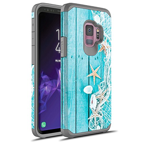 S9 Plus Case, Galaxy S9 Plus Case, Rosebono Slim Hybrid Dual Layer Shockproof Hard Cover Graphic Fashion Cute Colorful Silicone Skin Cover Armor Case for Samsung Galaxy S9 Plus (Starfish)