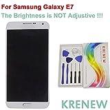KRENEW Touch Screen Replacement Digitizer Glass LCD Repair Assembly Display for Samsung Galaxy E7 E7000 E7009 E700F E700H E700M (White)