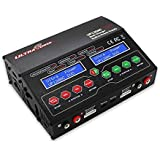 UP120AC Duo Dual 2 Port (2x 12Amps, 2x 120Watts, 240Watts Total): LiPo, LiHV, LiIon, LiFe, NiCd, NiMh, Pb AC/DC Balancing Battery Multi-Chemistry Multicharger with 300Watt Power Supply by Ultra Power